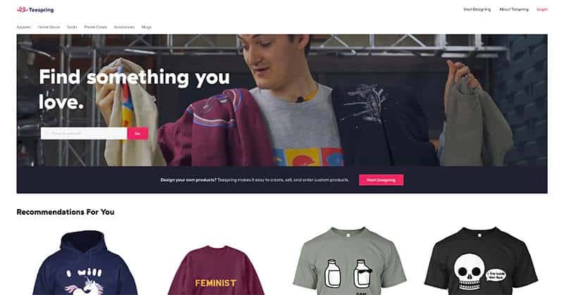 Teespring Website